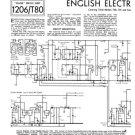 English Electric T40 TV Service Sheets Schematics Set