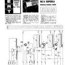 Europhon RC-A Superla Radio Service Sheets Schematics Set