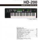 Yamaha HD200 (HD-200) Harmony Director Keyboard Service Manual