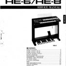 Yamaha HE8 (HE-8) Electone Keyboard Service Manual