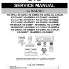 Yamaha KDG343EX (KDG-343EX) (KD-G343EX) CD Receiver Service Manual