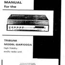 Hacker GAR1000A Tribune Service Manual Schematics