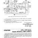 Dynatron 1375 TUA Service Sheet Schematics Set