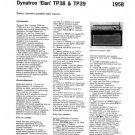 Dynatron Elan TP39 (TP-39) Radio Service Sheet Schematics Set