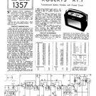 Roberts RT1 (RT-1) Radio Service Sheets Schematics