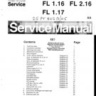Philips FL1.16 Chassis Television Service Manual