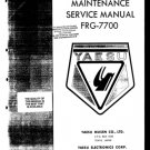 Yaesu FRG7700 (FRG-7700) Receiver Workshop Service Manual