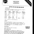 Hoover D7158 (D-7158) DISH Workshop Service Manual