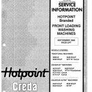 Hotpoint 9539P Aquarius Ultra Washing Machine Service Manual