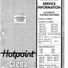 Hotpoint 9546W Washing Machine Service Manual