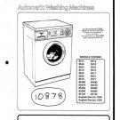 Hotpoint 95492 Washing Machine Workshop Service Manual