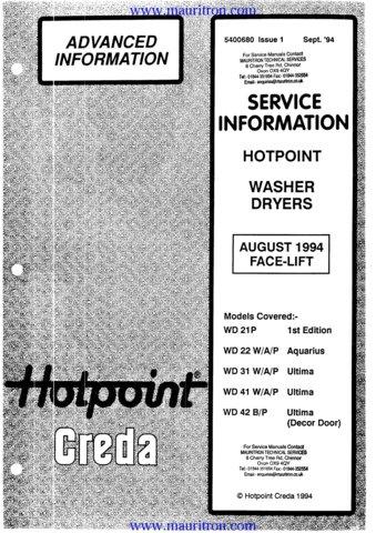 hotpoint aquarius washing machine manual