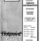 Hotpoint WD31A (WD-31A) Ultima Washing Machine Service Manual