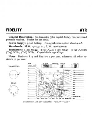 Fidelity Ayr Radio Service Sheets Schematics Set