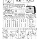 Fidelity Florida Radio Service Sheets Schematics Set