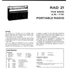 Fidelity RAD21 (RAD-21) Radio Service Sheets Schematics Set