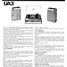 Fidelity UA3 (UA-3) Record Player Service Sheets Schematics Set