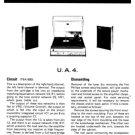 Fidelity UA4 (UA-4) Record Player Service Sheets Schematics Set