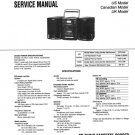 Sony CFD515 (CFD-515) Music System Service Manual