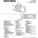 Sony CFD545 (CFD-545) Music System Service Manual
