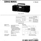 Sony CFD757S (CFD-757S) Music System Service Manual