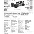 Sony DCRVX2000E (DCR-VX2000E) (DCRVX-2000E) Camcorder Service Manual