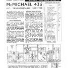 McMichael 435 Vintage Valve Service Sheets Schematics Set