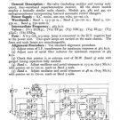 McMichael 475 Vintage Valve Service Sheets Schematics Set