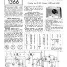 HMV 1410B Radio Service Sheets Schematics Set