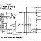 Marconi AC5 (AC-5) Power Supply Circuit Diagram Schematics Set only