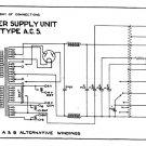 Marconi AC5 (AC-5) Power Supply Circuit Diagram Schematics Set only