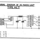 Marconi AC7 (AC-7) Power Supply Circuit Diagram Schematics Set only