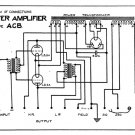 Marconi ACB (AC-B) Power Amplifier Circuit Diagram Schematics Set only