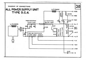 Marconi DC4 (DC-4) Power Supply Circuit Diagram Schematics Set only
