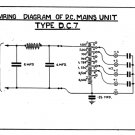 Marconi DC7 (DC-7) Power Supply Circuit Diagram Schematics Set only
