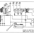 Marconi DCA (DC-A) AMP Circuit Diagram Schematics Set only