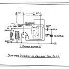 Marconi H3 (H-3) AMP Circuit Diagram Schematics Set only