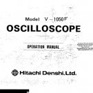 Denshi V1050F (V-1050F) Oscilloscope Operating Guide User Instructions