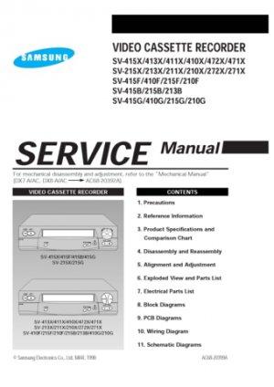 Samsung SV-410X Video Recorder Service Manual