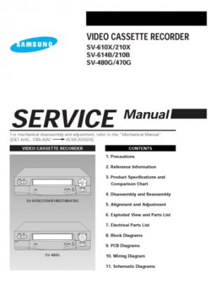 Samsung SV-480G Video Recorder Service Manual