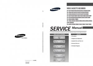 Samsung SV-620B Video Recorder Service Manual
