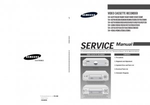 Samsung SV-633B Video Recorder Service Manual