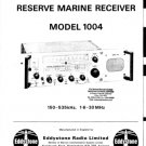 Eddystone 1004 Receiver Combined Service Shcematics etc and Operating Guide