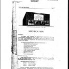 Eddystone 640 Receiver Combined Service Shcematics etc and Operating Guide