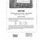 Eddystone 840A Receiver Combined Service Shcematics etc and Operating Guide