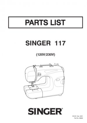 Singer 117 Sewing Machine Exploded Views and Parts Lists