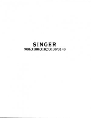 Singer 3102 Sewing Machine Parts Lists and Exploded Views etc