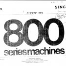 Singer 800 Sewing Machine Parts Lists and Exploded Views etc