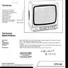 Britannia CTV140 (CTV-140) Television Service Manual