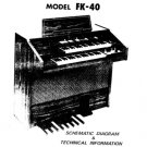 Farfisa FK40 (FK-40) Keyboard Service Manual